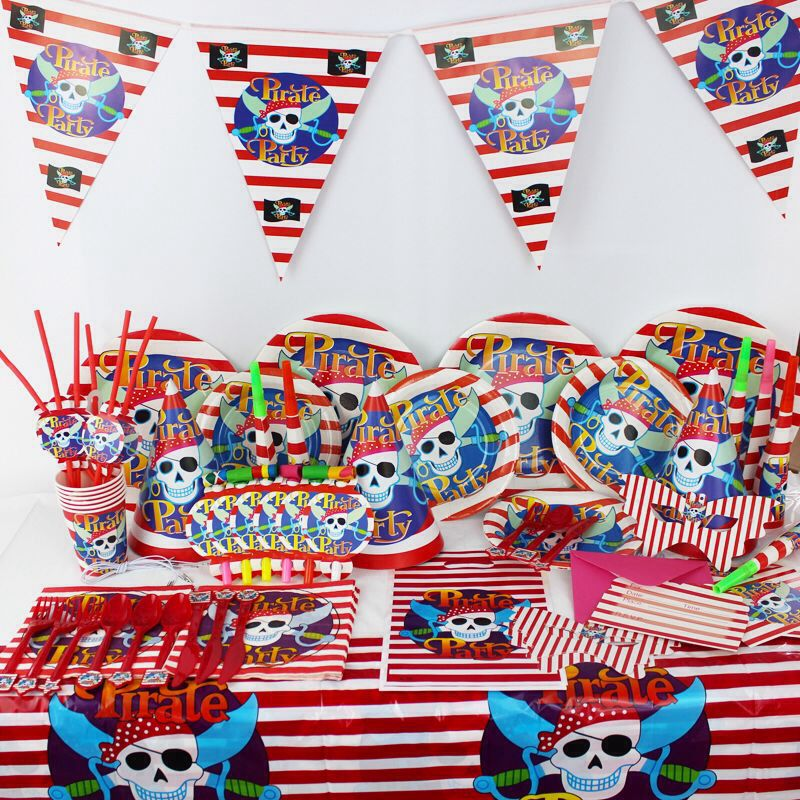 Pirate Party Pack - 68 Pieces