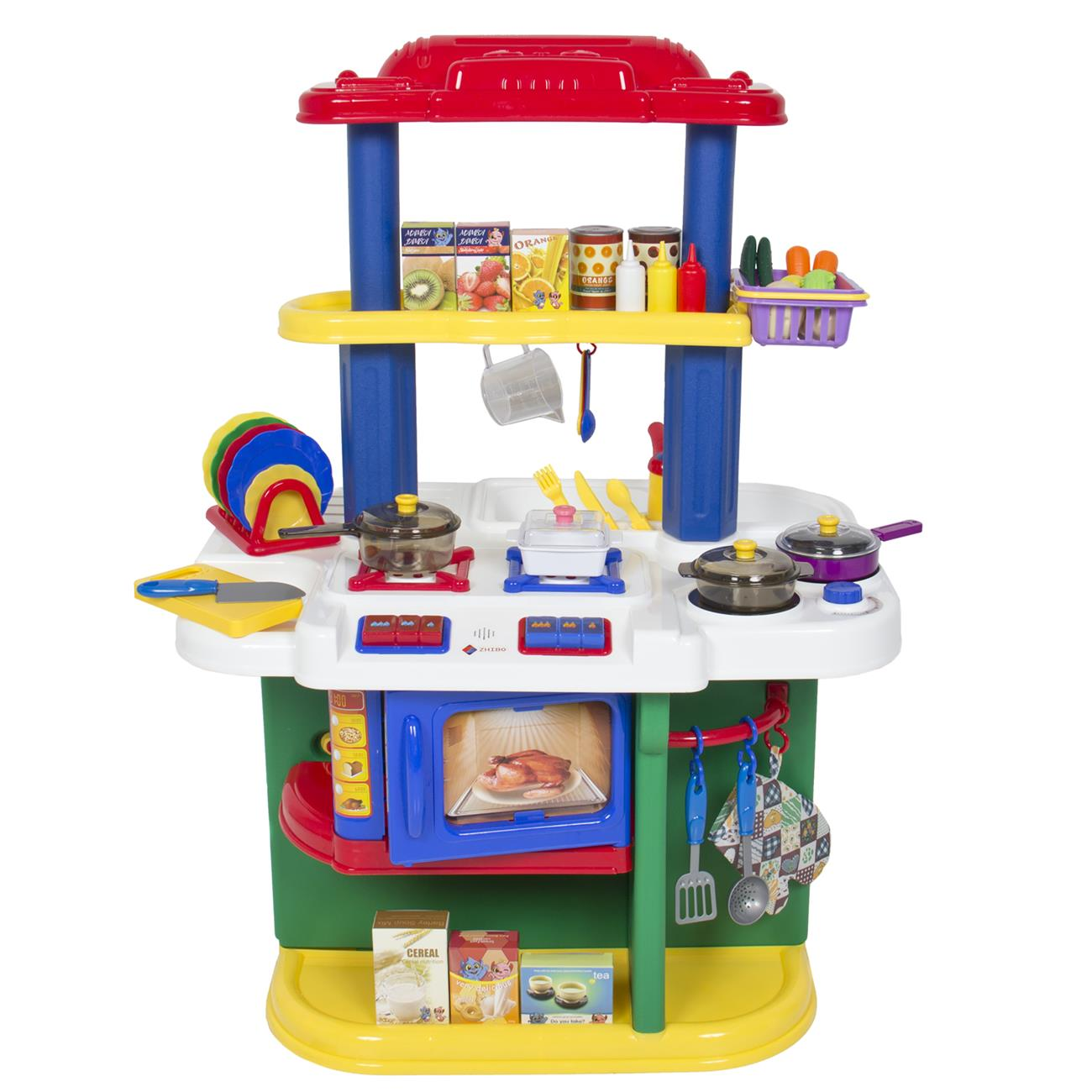 Children Kitchen Cooking Pretend Play Set