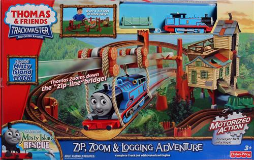 Track Master Motorized Railways Zip, Zoom & Adventure