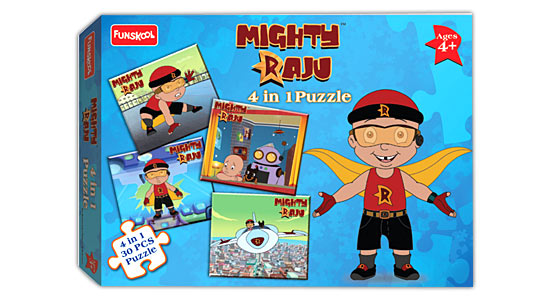 Mighty Raju 4 in 1 Puzzle