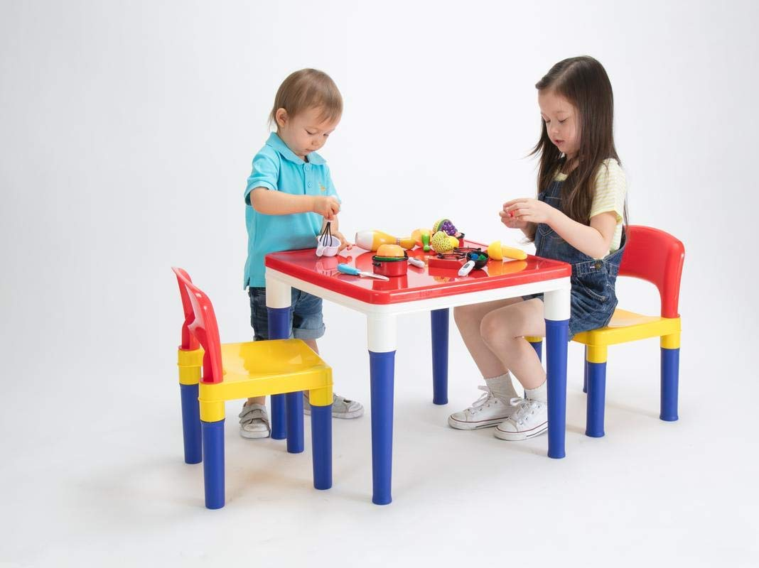 2 in 1 Block Table and 2chair Set