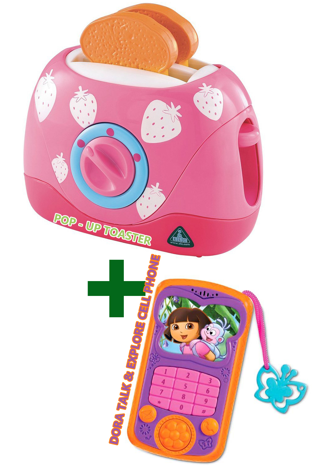 Pop - Up Toaster and Dora Talk & Explore Cell Phone