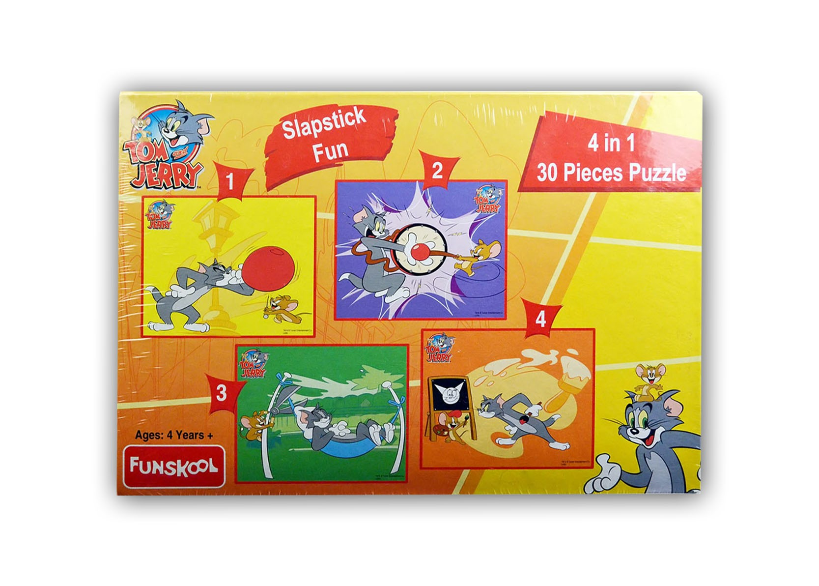 Tom n Jerry Slapstick Fun 4 in 1 Puzzle (30 Pieces)