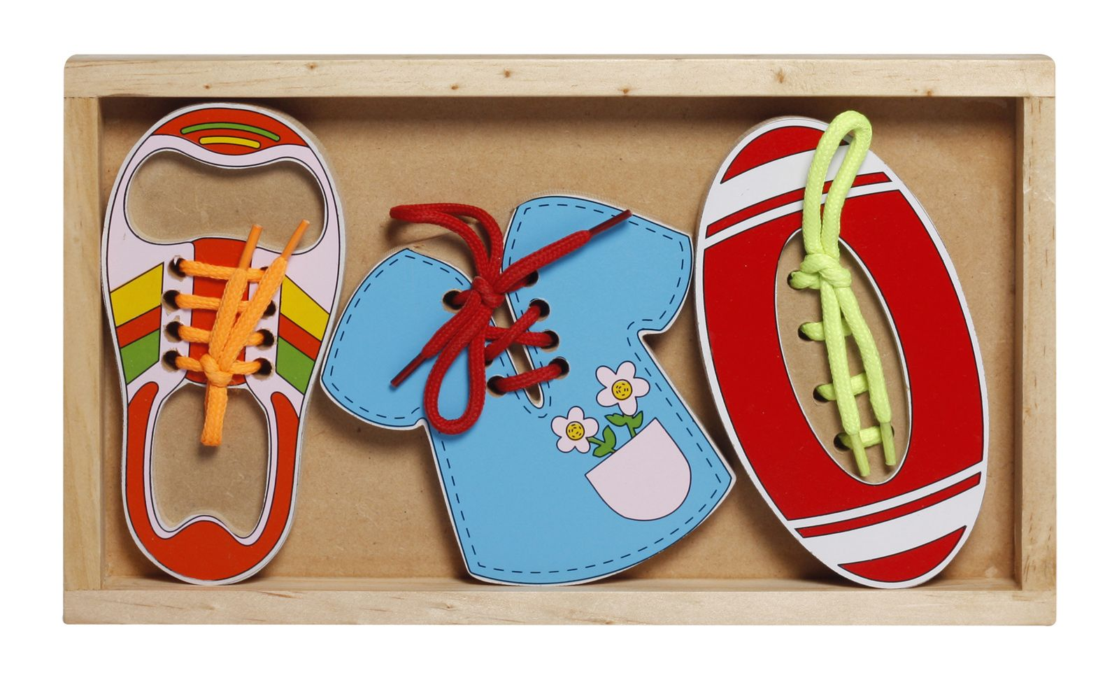 Wooden Lacing Set