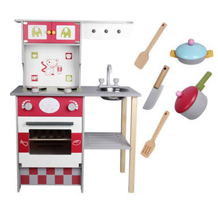 Kids Wooden Play Kitchen Set