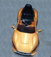 BATTERY OPERATED CAR ORANGE