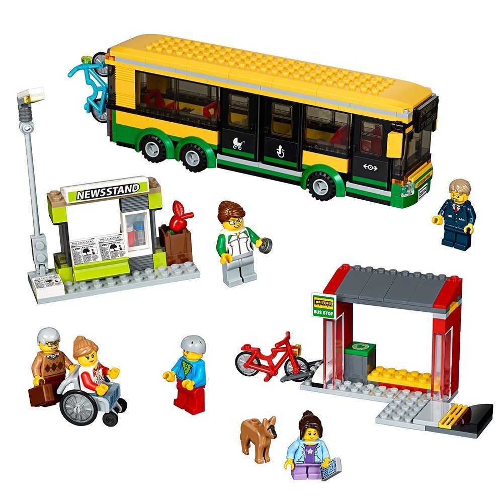 LEGO City Town Bus Station Building Kit