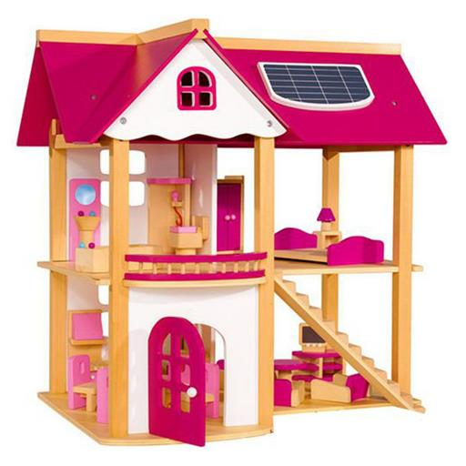 Wooden Pink Doll House