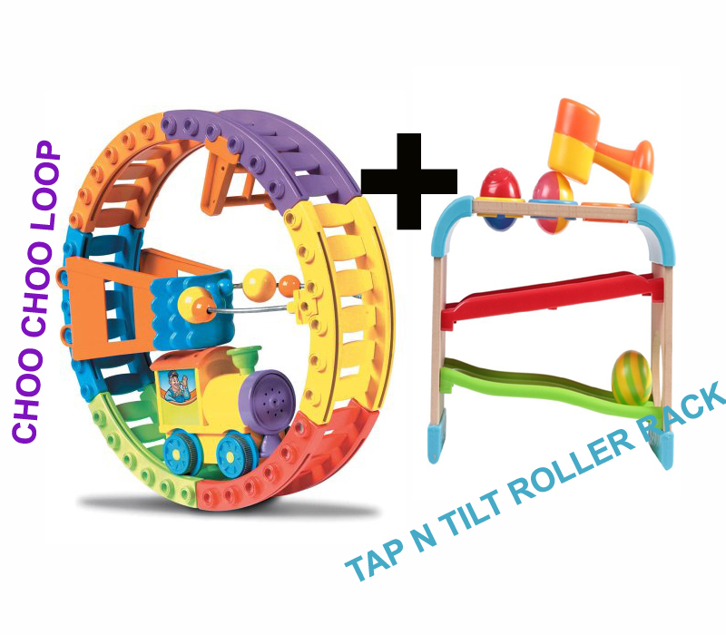 Choo Choo Loop and Tap n Tilt Roller Rack