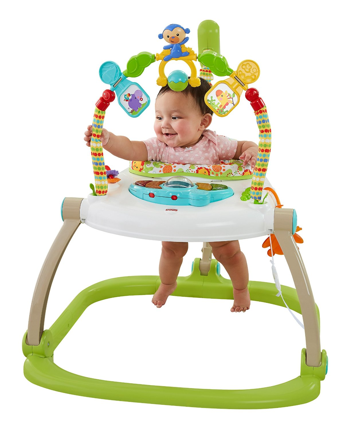 Fisher Price Rainforest Friends Spacesaver Jumperoo Baby Bouncer