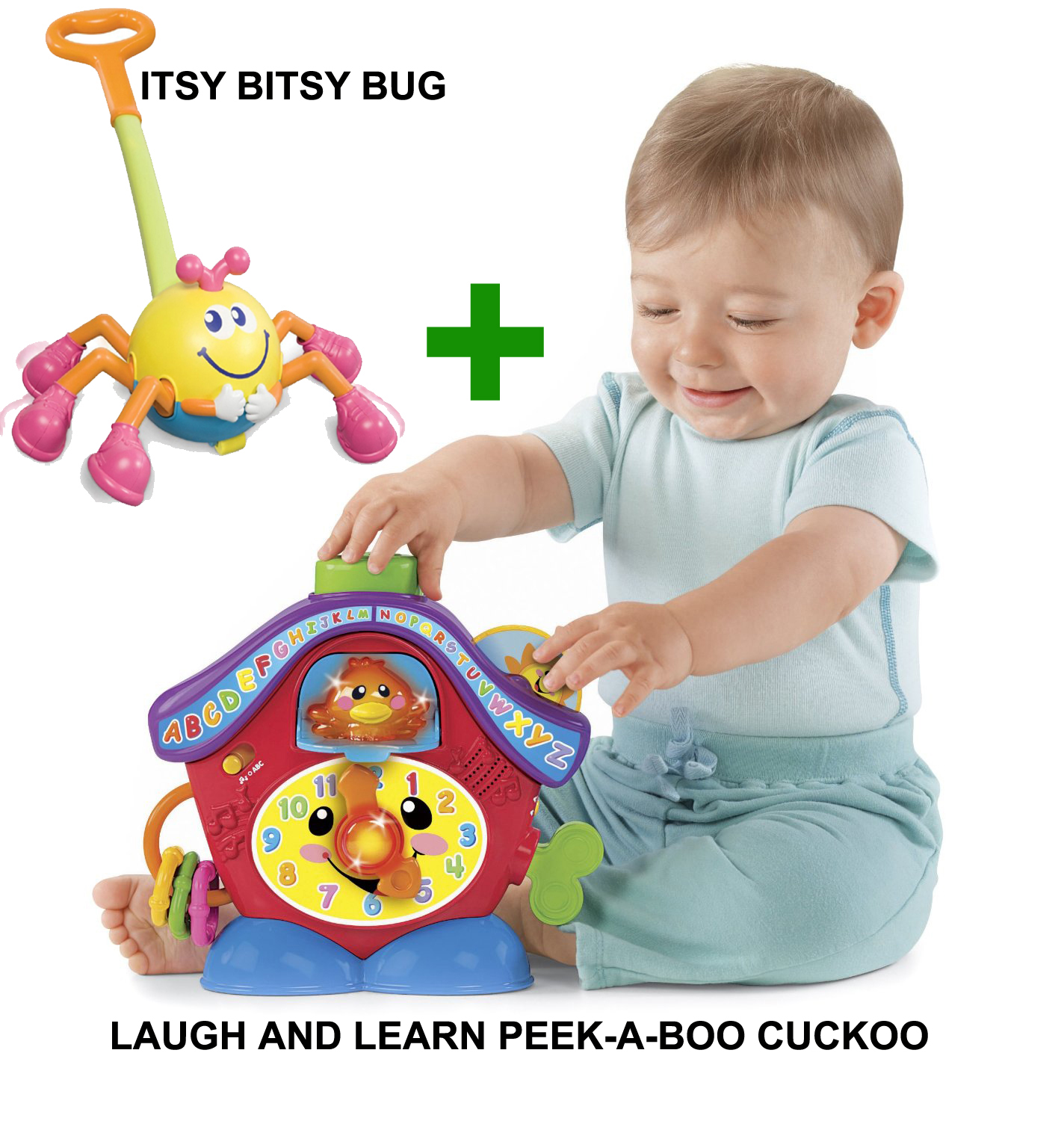 Laugh and Learn Peek-a-Boo Cuckoo and Itsy Bitsy Bug