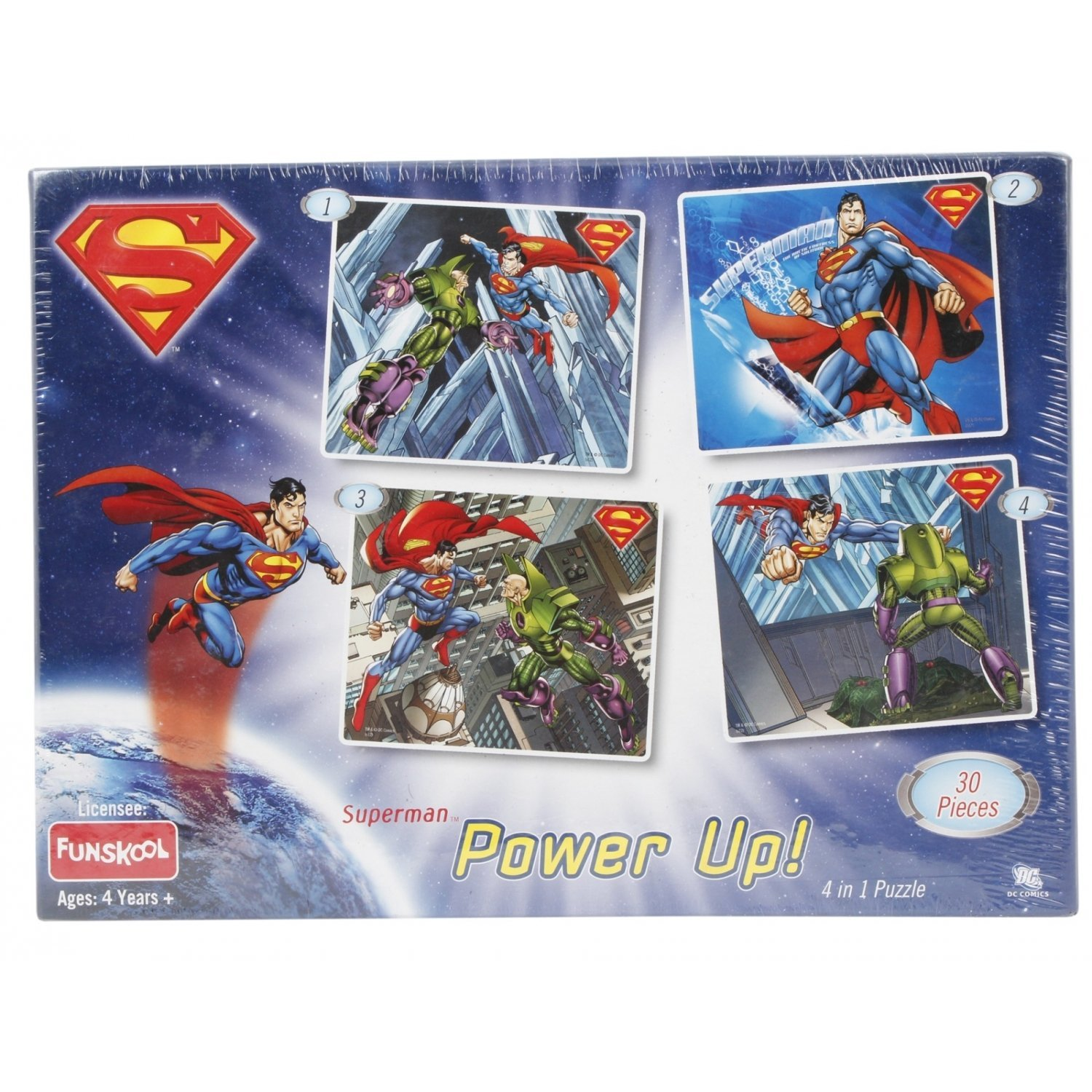 Superman Power Up 4 in 1 Puzzle (30 Pcs)