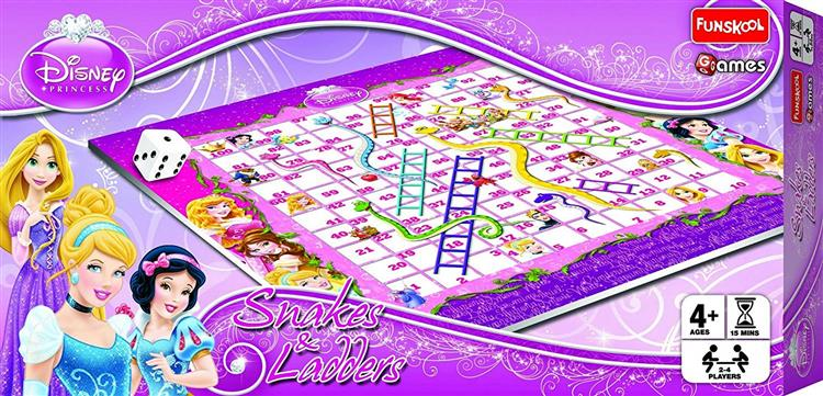 Disney Princess Snakes and Ladders, Multi Color