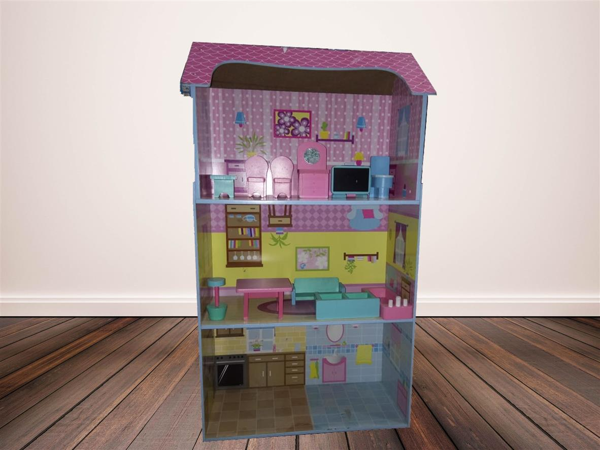 Wooden Modern Doll House