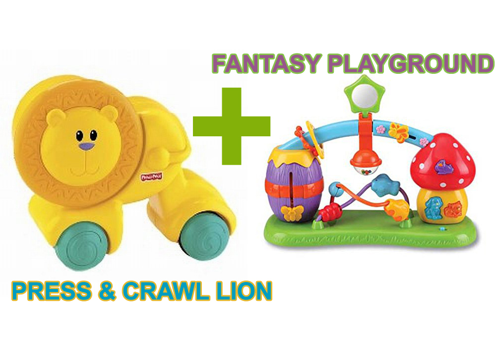 Press & Crawl Lion and Fantasy Playground