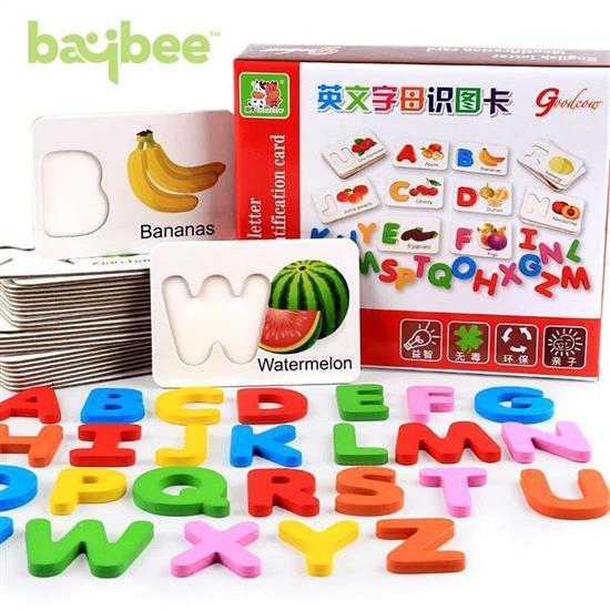 Baybee Alphabet Wooden Cards
