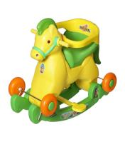 2-in-1 Horsey Rocker/Ride-on Toy for Kids (Yellow and Green)