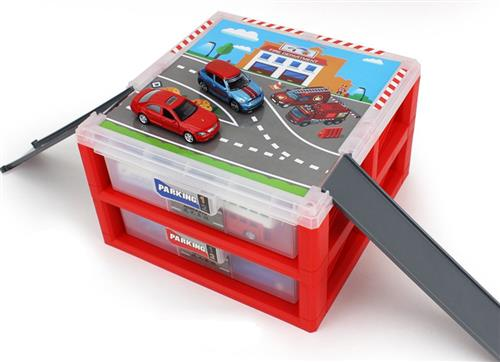 Mini Parking Lot Vehicle storage box Toy Vehicle Garages
